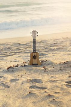 Ukulele Beach Art Print by JessaMaePhoto on Etsy #ukulele #etsy #beach #wallart