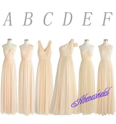 champagne bridesmaid dress, wedding party dress, mismatched bridesmaid dress, long bridesmaid dress, free custom made bridesmaid dress, 15113