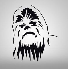 CHEWBACCA-Star-Wars-Decal-WALL-STICKER-Art-Home-Decor-Stencil-Silhouette-SST004