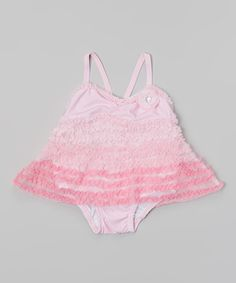 Pink Ruffle Skirted One-Piece - Infant & Toddler by Nannette Baby #zulily #zulilyfinds