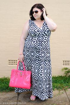Aussie Curves Danimezza Plus Size Fashion Blogger Outfit Curvy Black White -4