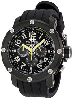 c8a0bb1e0a10 Men s Wrist Watches - TW Steel Mens TW609 Emerson Fittipaldi Edition Black  Rubber Chronograph Dial Watch