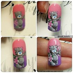 VK is the largest European social network with more than 100 million active users. Animal Nail Designs, Nail Art Designs, Nail Art Diy, Diy Nails, Valentine Nail Art, Valentines, Tatty Teddy, Nail Tutorials, Pretty Nails