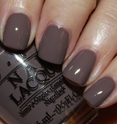 I São Paulo Over There is a medium/deep brown/taupe creme. - - I São Paulo Over There is a medium/deep brown/taupe creme. Opi Nail Colors, Fall Nail Colors, Cute Nails, Pretty Nails, Gel Nails French, Nail Design Video, Colorful Nail Designs, Vogue Uk, Nagel Gel