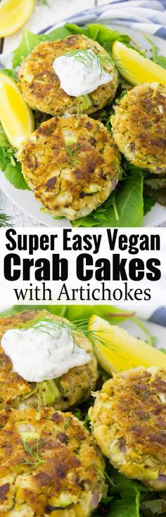 These vegan crab cakes much such a delicious vegan dinner! They're super easy to make and they're such a great vegan fish alternative! Find more vegan recipes at veganheaven.org!