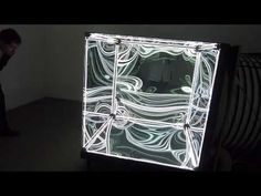 Numen light-cube presented in Studio Canisiusgasse 1090 Vienna during the Vienna Design Week from Facebook Trending, Infinity Mirror, Projection Mapping, Light Architecture, Light Installation, Easy Diy Crafts, Daydream, Vienna, Light Cube