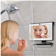 Fogless Shower Mirror Squeegee Bath Bathroom No Fog Shaving Mirror Fog Free New #ToiletTreeProducts