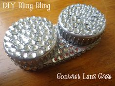 GET OUTA HERE!!    DIY Blinged Out Contact Lens Case. Gotta make this!!!!!!   :-)