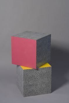 """tommmmo:    Ettore Sottsass laminated cubes, """"Bacterio"""" pattern"""
