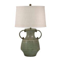 "Antiqued Porcelain 31"" H Table Lamp"