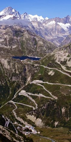 Switchbacks of the Grimsel Pass, Switzerland