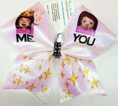Bows by April - ME ... YOU Emoji Cheer Bow, $15.00 (http://www.bowsbyapril.com/me-you-emoji-cheer-bow/)