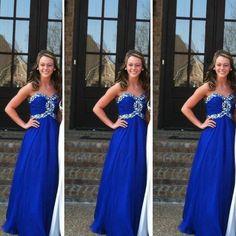 Royal Blue Prom Dresses Floor Length pst0370