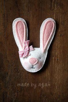 Bunny Brooch | Flickr - Photo Sharing!