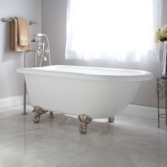 """55"""" Rayne Acrylic Roll Top Clawfoot Tub--not crazy about the clawfeet, but like shape of tub"""