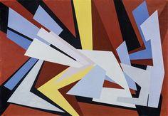 Gualtiero Nativi - Da un centro, 1952 - Olio su tela, 70 x 100 cm.