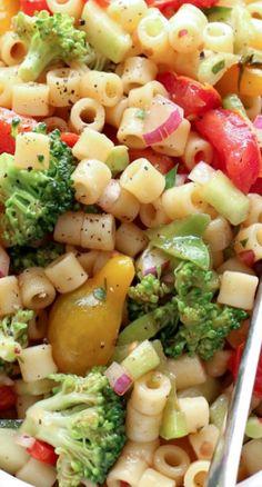 Marinated Vegetable Pasta Salad Recipe