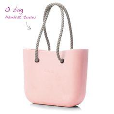 kunststof tas O bag body roze handvat touw