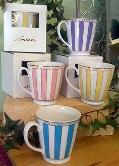 I think Noritake coffee mugs would make my cheap coffee taste so much better. Coffe Cups, Coffee Cups And Saucers, Cup And Saucer, Tea Cups, Coffee Tasting, Coffee Drinkers, Coffee Break, Coffee Time, Cheap Coffee