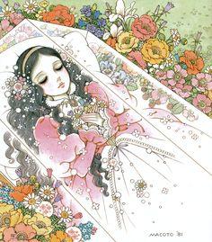 shojo-manga-no-memory Macoto Takahashi Snow White - Disney Kunst, Disney Art, Walt Disney, Manga Art, Manga Anime, Anime Art, Fantasy Kunst, Fantasy Art, Macoto Takahashi Art