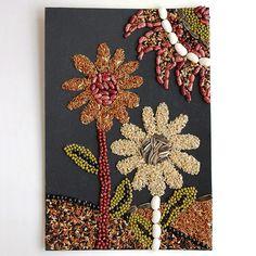 Seed Mosaic | Kids' Crafts | Fun Craft Ideas | FirstPalette.com Deco Nature, All Nature, Mosaic Crafts, Mosaic Art, Fun Crafts For Kids, Arts And Crafts, Harvest Crafts For Kids, Kids Fun, Mosaics For Kids