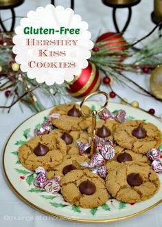 Gluten-Free Hershey Kiss Cookies with #Recipe