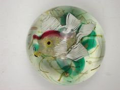 Antique+Murano+Glass+|+Murano+aquarium+fish+vintage+glass+paperweight