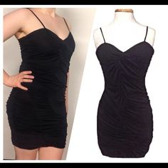 🔳Little Black Dress🔳 Sunday Funday Party HP This slinky little number is perfect for a fun night out! Sizes small, medium, and large are available. There are built in support cups, no need to wear a bra underneath! Form fitting, but the material allows for a generous amount of stretch. Size medium is pictured. This beauty is brand new, but it does not have removable tags because it didn't come that way when it was purchased from the wholesaler. Comment with questions. As always, fast ASAP…