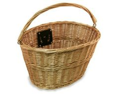 Nirve Wicker Bike Basket by Nirve. $45.99. Basket measures 16 by 12 by 10 inches (width x length x depth). Front-mount wicker bike basket woven from real willow reed. Fits 24-inch and 26-inch cruiser bikes and 700c-wheel hybrid bikes. Quick release hardware allows you to detach basket and carry it with you for shopping. Comes with convenient carry handle for use when off bike. Amazon.com                Designed to mount on the front of most adult and teen-sized bi...