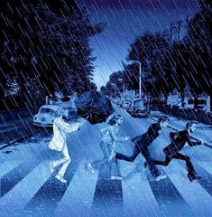 Abbey Road in the rain. Foto Beatles, The Beatles 1, Beatles Art, Beatles Photos, Abbey Road, Cultura Pop, John Lennon, Ted Benoit, Richard Avedon