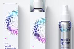4 oz Metallic Spray Bottles Mockup with Paper Boxes, Top view Spray Bottle, Water Bottle, Paper Boxes, Bottle Mockup, Bottle Design, Top View, Packaging Design, Bottles, Metallic