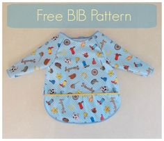 This is the Free PDF pattern for a long sleeve bib. It is a great DIY Project for beginner sewists and easy to download online!