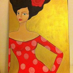 Carmen. Acrílico sobre lienzo 60x80cm. Pintura por CynthiaGordillo