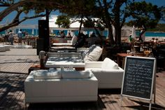 Blue Marlin Ibiza...no better place to lounge on a day bed by the beach, people watch, sip cava, have lunch and dance to house music! This is my kind of clubbing:)