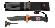 Gerber Bear Grylls Ultimate Knife. Intricately designed by Gerber and Bear, it's loaded with innovations that won't be found in any other fixed blade knife. Like everything in the Survival Series, it also includes Bear's Priorities of Survival pocket guide.