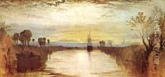 Chichester Canal oil painting reproduction by Joseph Mallord William Turner - NiceArtGallery.com