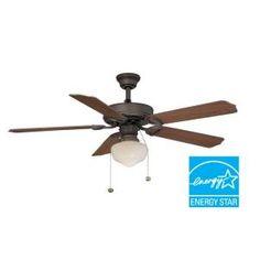Hampton Bay Tri-Mount 52 in. Oil Rubbed Bronze Ceiling Fan  Model # YG269-ORB Internet # 203382587 Store SKU # 924656    (1)  Write a Review  $49.97 /EA-Each