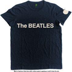 The Beatles Men's Fashion Tee: Logo & Apple with Applique Motifs Wholesale Ref:BEATAPSLUB01MN
