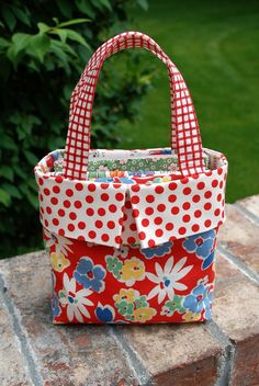 so cute!  bag tutorial