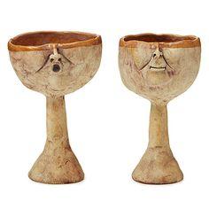 HIS/HER GOBLETS | Goblet, Unusual Dishware, Unusual Glassware, Handmade, Hand-Glazed | UncommonGoods