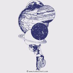 Time for Ride Art Print by huebucket Astronaut Drawing, Aliens, Zodiac Memes, Bike Art, Body Art Tattoos, Dot Tattoos, Tattoo Art, Tatoos, Amazing Art