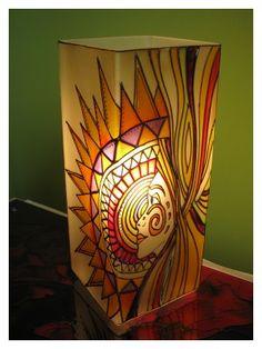 Naplány meselámpa www.meselampa.hu by AsterGlass Design (Burján Eszter 'Aster' üvegfestő művész)
