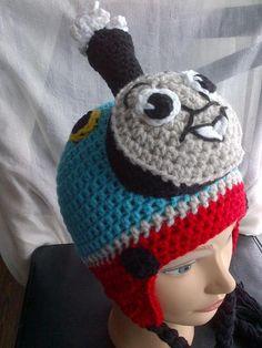 (4) Name: 'Crocheting : Crochet Choo Choo Hat Pattern