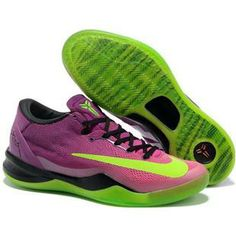 0e4500a6a08 Nike Kobe 8 VIII System Mambacurial Red Plum Electric Green Pink Flash Mens  Basketball Shoes For Sale