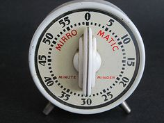 Vintage Lux Mirro Matic Minute Minder Kitchen Timer