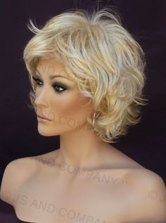 Modern and Synthetic Short Wig. It may be a wig, but it's still darn cute.