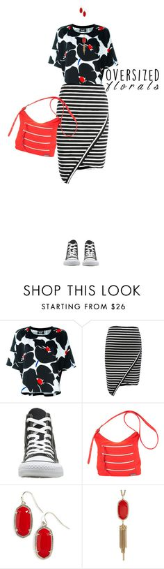 """""""Mix It Up"""" by polylana on Polyvore featuring Boutique Moschino, Converse, Hadaki, Kendra Scott and oversizedflorals"""