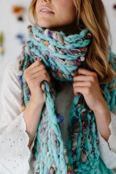 Happy Trails Scarf Pattern – Colorful knit pattern for bulky, chunky yarns!