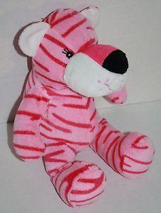 """Fiesta Blanket Babies pink Tiger 11"""" Baby plush stuffed animal toy sewn eyes EXC"""