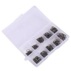 【 $3.59 & Free Shipping / Coupons 】490pcs Iron Fishing Hook with Barbed Black Fishhook Jig Box BHU2 | worth buying on AliExpress